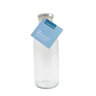 Preisvergleich Produktbild Lakeland Retro Glas Milch Flasche (inklusive Deckel) 500 ml Standard