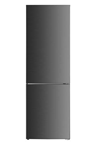 DAYA Frigo Combinato DHCB-350NM2XF0, Total Inox, Total No Frost, 293 Litri, Classe F, Profondità 60 cm, Inox
