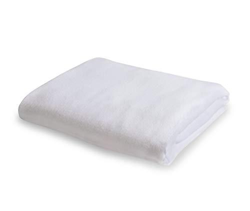 TUUR Spannbettlaken 180 x 200 cm aus 100% Bio-Baumwolle, waschbares Bettlaken geeignet für Boxspringbett mit Einer Matratzen-Höhe bis zu 25cm, atmungsaktiv und antiallergisch, weiß