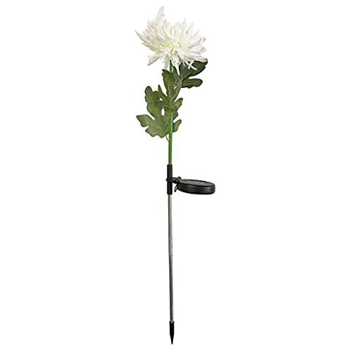deendeng Adornos Solares para Jardín - Luces LED Crisantemo Lámpara con Energía Solar Luces Exteriores Impermeables - Patio Patio Trasero Adorno para Jardín