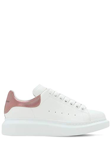 Alexander McQueen White Pink Oversize Sneakers New and Authentic FW20 (10)