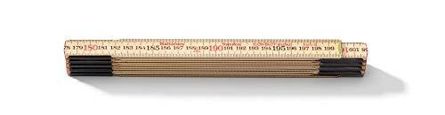 Hultafors 101804 Contactmeter 559 Zollstock 2m aus Birkenholz mit invertierter Skalierung für anliegende Messungen