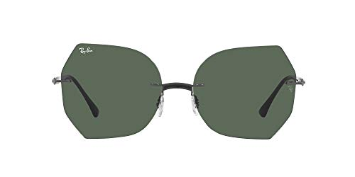 Ray-Ban 0RB8065 Gafas, BLACK ON SANDING GUNMETAL, 62 Unisex Adulto