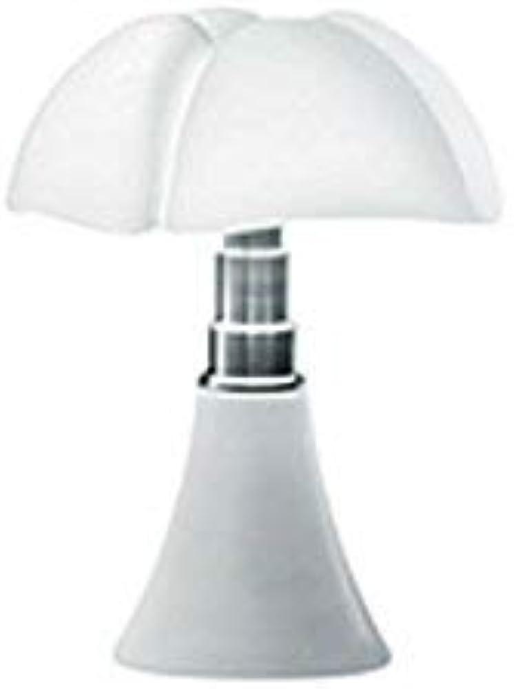 Martinelli luce mini pipistrello, lampada da tavolo in  alluminio,acciaio,e metacrilato bianco 620/J/BI