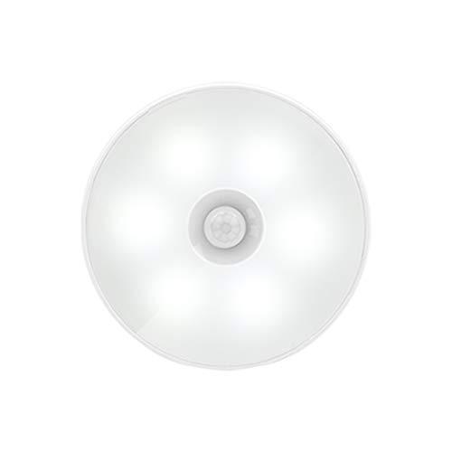 RAPG Luz nocturna LED sensible al movimiento, recargable por USB, luz portátil, apertura y cierre automático, mini luz blanca cálida, con instalación magnética