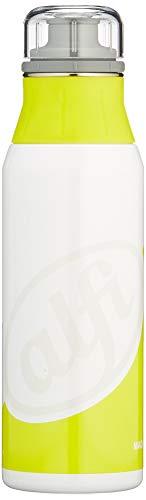 alfi Trinkflasche Edelstahl 900ml - elementBottle Style White-Lime - auslaufsicher, spülmaschinenfest, BPA-Free, 5357.123.090