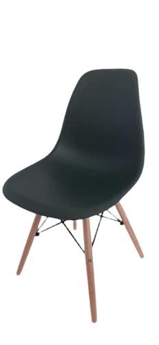 Silla de Estilo Nórdico, Silla con Patas de Madera, Silla de Comedor, Silla de Estudio - 81x47x47 cm (Verde Oscuro)