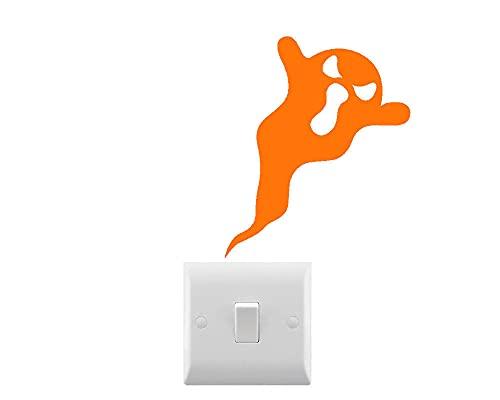 DKISEE Novedad fantasma Halloween interruptor de luz/etiqueta engomada del coche/etiqueta engomada del ordenador portátil 6'