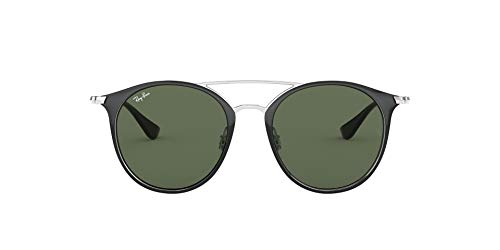 Ray-Ban 0RJ9545S Occhiali da Sole, Nero (Silver On Top Black), 47 Donna