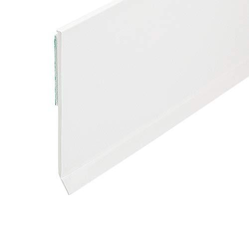 Flachleiste Kunststoffleiste Fensterleiste mit Gummilippe (B: 80mm | L: 5m)