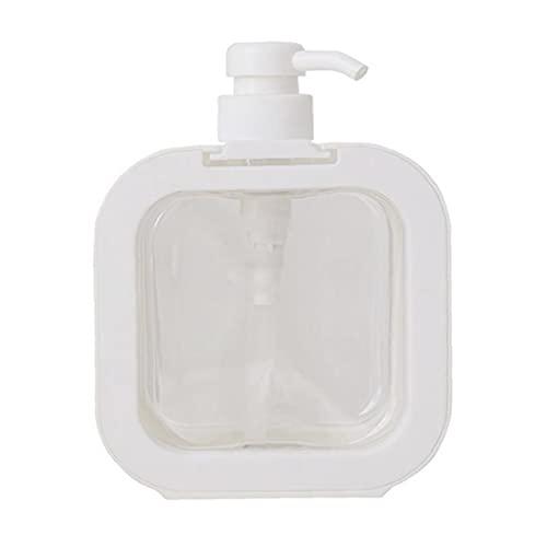 Dispenser per bottiglie di pompa 500ml Nordic Cancella shampoo ricaricabile e distributore di condizionatore Quadrato bianco SAPONE SAPPER POMPA DISPENSER CHIARO RAPPORTO SOAP MANO
