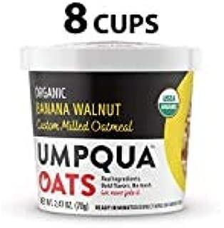 Umpqua Oats Organic Oatmeal Cups, Banana Walnut, 8 Count