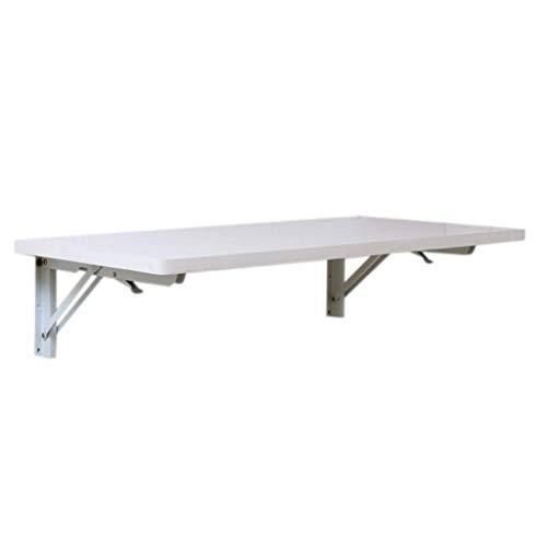 YO-TOKU Mesa plegable de pared para ordenador de mesa de comedor de densidad blanca para colgar en la pared, mesa de estudio, tamaño opcional para jardín