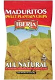 Iberia Sweet Plantain Chips 3.2 oz (2 bags)