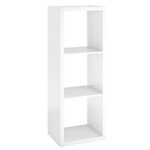 ClosetMaid 4542 Decorative Open Back 3-Cube Storage Organizer, White