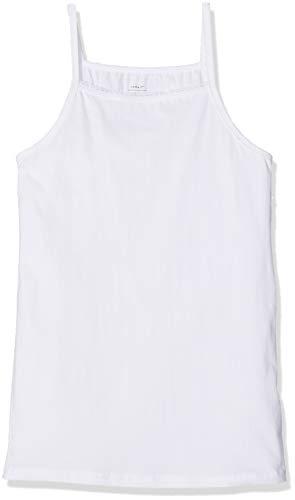 NAME IT Mädchen Top NKFSTRAP 2P SOLID NOOS, 2er Pack, Weiß (Weiß Bright White), 158