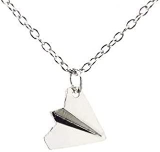 """OUTLETISSIMO® Collana Aeroplano di carta One Direction""""Harry"""", colore Argento ET-CAH"""