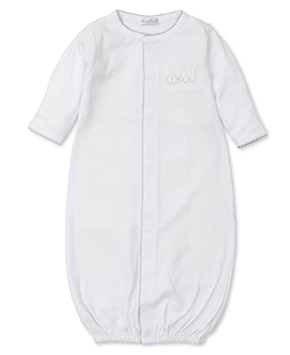 Kissy Kissy Unisex-Baby Infant Pique Elephant Love Convertible Gown-White-Newborn