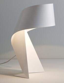 JGHH Nachttischlampe Moderne minimalistische Schwarze und weiße Origami-Tischlampe E27 LED dekoratives Licht für Wohnzimmer Tischlampen für Schlafzimmer Himalaia (Lampshade Color : 1)