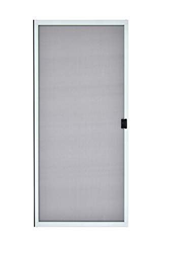 "K.D. Heavy Duty Galv. Steel Sliding Patio Screen Door Kit (36"" x 80"", White) - 1-7/8"" Frame"