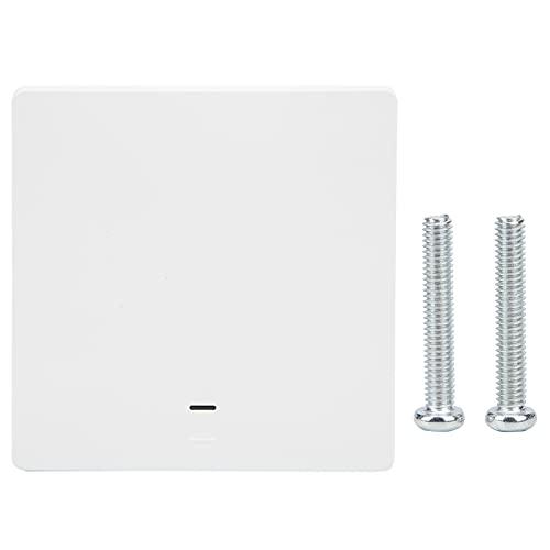 Interruptor táctil inteligente 95-240VAC Interruptor de luz inteligente de vida inteligente 2200W Wifi Luz de pared táctil inteligente 1 Gang Interruptor de control remoto de 1 vía