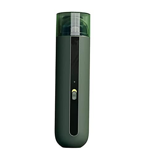 AOIWE Limpiador inalámbrico de vacío de Carro portátil de Mano, 5000pa Casa Recargable Vacuum inalámbrico, Blanco (Color : Green)