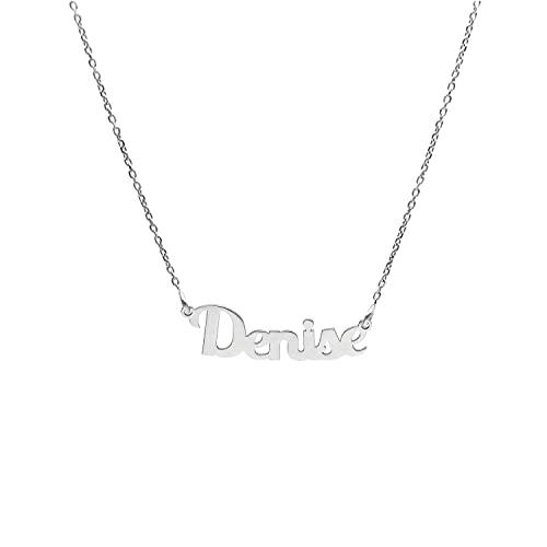 Collana In Argento Con Nome (D) (Denise)