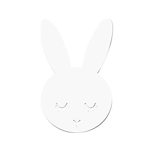 Janly Clearance Sale Espejo de acrílico nórdico con dibujos animados para cámara de pared, decoración de pared de habitación de los niños, decoración del hogar para el día de Pascua (A)