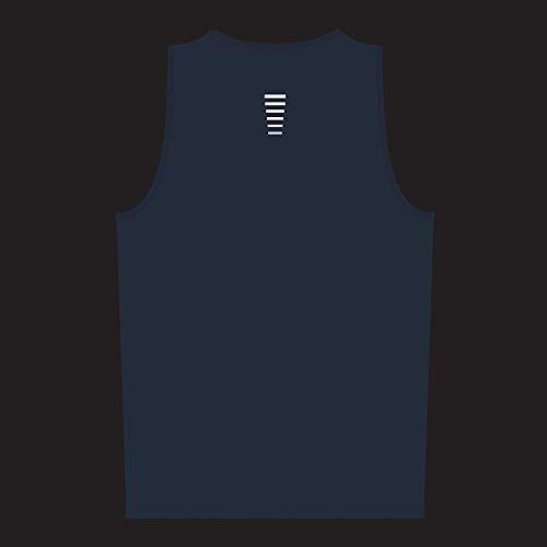 Proviz Classic Hi Viz Reflective Men's Running Singlet Vest Sleeveless Top Hi Visibility (XXL, Blue)