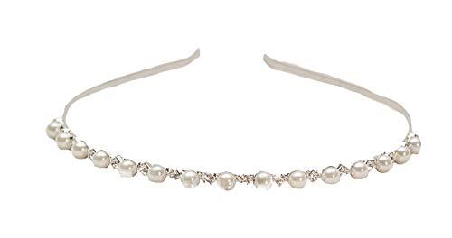 Unbekannt Haarreif Haar Reif Tiara Diadem Blumen Perlen Stras Haarschmuck Stirnschmuck Blüten Braut Hochzeit
