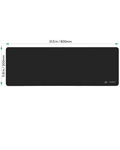AUKEY Alfombrilla Ratón Grande Gaming Mouse Pad (800x300x4mm) con Superfine Fiber Surface Smooth, Base de Goma… 5