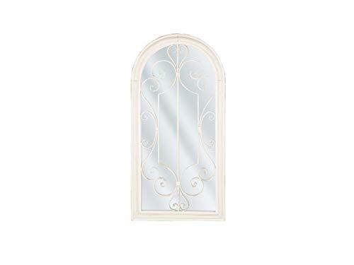 Beliani Romantischer Wandspiegel in Weiß Fensteroptik 50 x 98 cm Campel