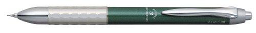 ダブルアクション バインダークリップ付き3機能複合筆記具 [黒+赤+シャープペンシル] 0.7mm #41グリーン MWBK-3000