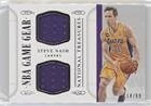 Steve Nash #/99 (Basketball Card) 2014-15 Panini National Treasures - NBA Game Gear Duals #GGD-SN