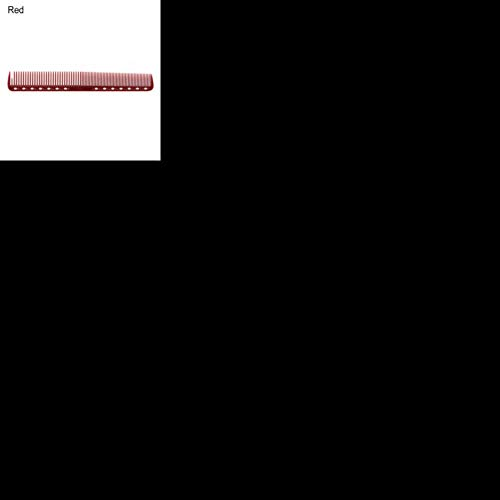 1 PC Démêlant Cheveux Coiffure Brosse Coloré En Plastique Cheveux Coupe Barber Peigne Professionnel Anti-statique Flattop Salon Styling Outil, Rouge