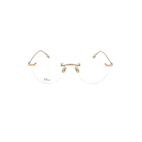 Dior StellaireO 6F DDB Gold Copper Metal Rimless Eyeglasses 53mm