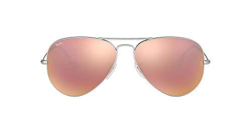Ray-Ban Sonnenbrille RB3025 Aviator Sonnenbrille 58, Silber