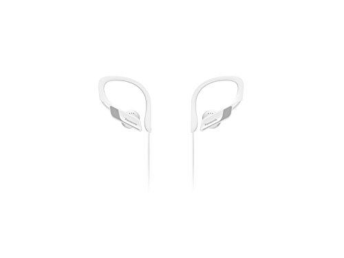 Panasonic Wings RP-BTS10E-W- Auriculares Bluetooth Deportivos (Impermeables, Uso cómodo y Ultraligero, Batería Duradera, Cancelación de Ruido, Carga rápida, Deporte para iPhone y Android), Blanco