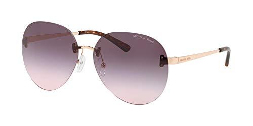 Michael Kors SYDNEY MK 1037 ROSE GOLD/BLUE PINK SHADED 60/14/140 Damen Sonnenbrillen