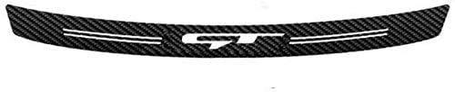 Coche Fibra De Carbono Trasero Protección para parachoques Placa para Kia Rio X-line Sportage R Stinger Venga Ceed Soul,Maletero Barra Resistente a Rayones Decorativas Accessories