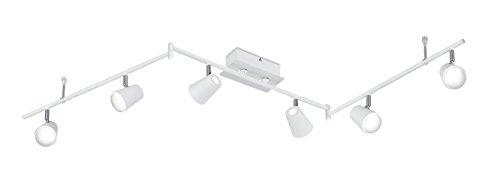 Trio Leuchten LED Deckenleuchten Narcos 873110631, Metall weiß matt / Chrom, 6 x 6 Watt