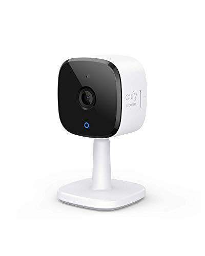 eufy Überwachungskamera, IP Kamera, Security Indoor Cam 2K Plug-In für Innenbereiche, mit WLAN-Funktion, Personenerkennung, Sprachassistent, Bewegungssensor(Generalüberholt)
