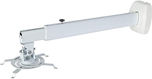 Montaje de pared de proyector de tiro corto universal, Telescópico 50-80 cm, ángulo de inclinación 84 grados con accesorios de tornillos para proyector CCTV Caja TV Soporte de TV Soporte de corchete