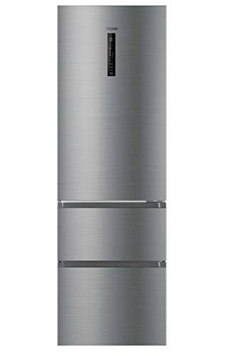 Haier AFE735CHJ - Frigorífico combi, 40dB, No Frost, 330L, Inverter, MyZone, SuperFreezing, LED, A++, Inox