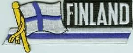 Yantec Patch Finnland 4 x 6 cm Flaggenaufn/äher