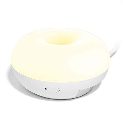LHQ-HQ Puerto del cargador zócalo de pared Noche de luz LED Multi-funcional inteligente 2W equivalente 20 W halógena doble del USB multifunción Lámpara de pared LED de luz de la noche la luz de emerge