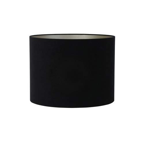 Light & Living lampenkap cilinder 50-50-38 cm Velours zwart-taupe voor woonkamer eetkamer slaapkamer enz.
