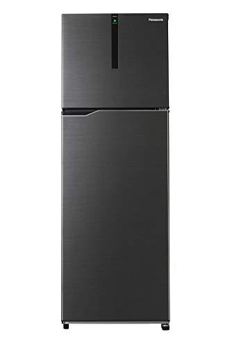 Panasonic Econavi 307 L 3 Star 6-Stage Inverter Frost-Free Double Door Refrigerator (NR-BG313PBK3, Black, Powered by Artificial Intelligence)