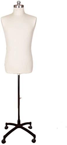 HongLianRiven Percha del Cuerpo Humano Masculino Grande Estable de Costura del maniquí de Peso Ligero Ajustable en Altura la Forma del Vestido de Espuma de poliestireno con el Pedal (Color : X)