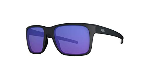 Óculos de sol H-Bomb 2.0 HB AdultoUnissex Preto Matte/Azul Único